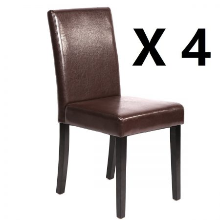 Mr. Direct Urban Style Leather Dining Chairs with solid wood legs