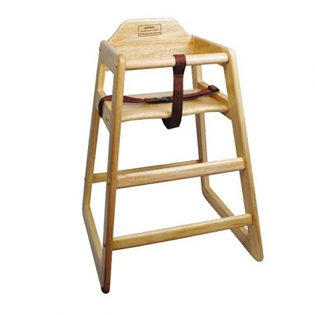 Winco CHH-101 Unassembled Wooden High Chair