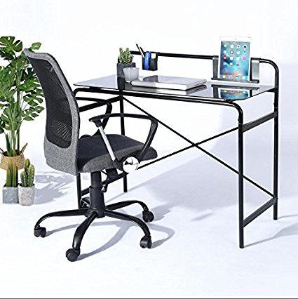 Coavas - Office Glass Desk  – Black