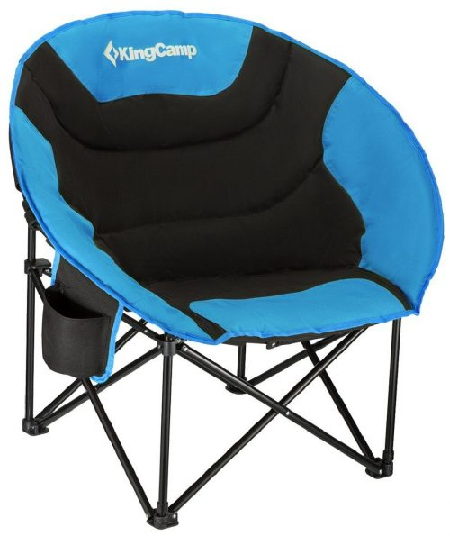 KingCamp Moon Saucer Padded Round Camping Chair