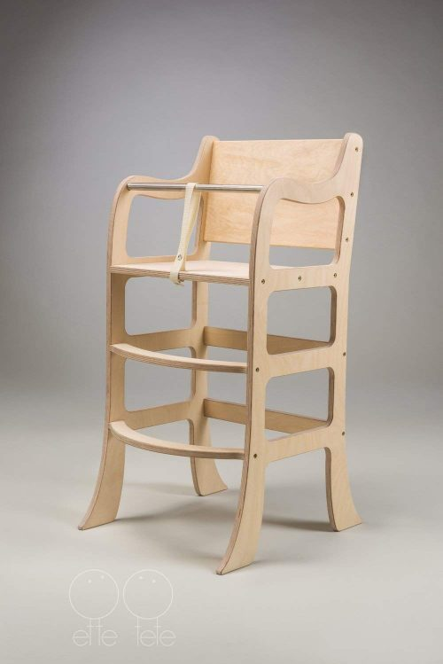 Wooden high chair Morning star, feeding chair, tablefit safety chair - WOODEN