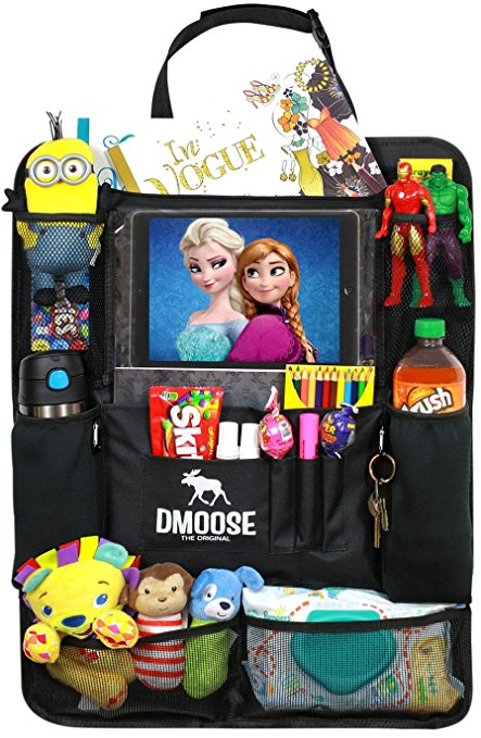 DMoose Car Backseat Organizer with Tablet Holder for Kids and Toddlers