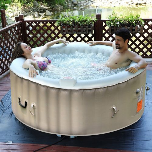 Goplus 4 Person Portable Inflatable Hot Tub for Outdoor