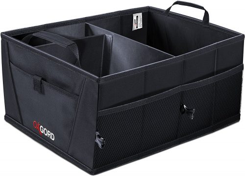 OxGord Auto Trunk Storage Organizer Bin with Pockets
