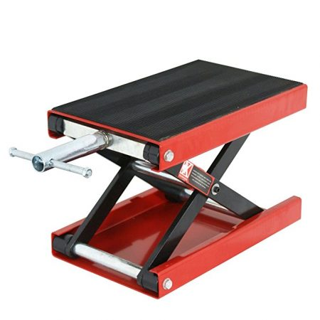 ZENY Wide Deck Motorcycle Scissor Lift Jack