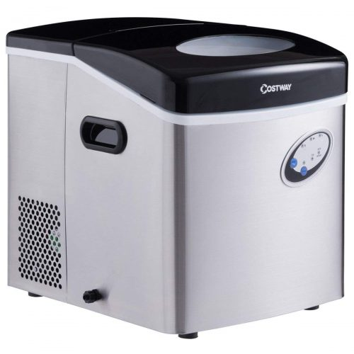 Costway Portable Steel Ice Maker Machine for Counter Top Makes 48 lbs per Day Electric Ice Making Machine
