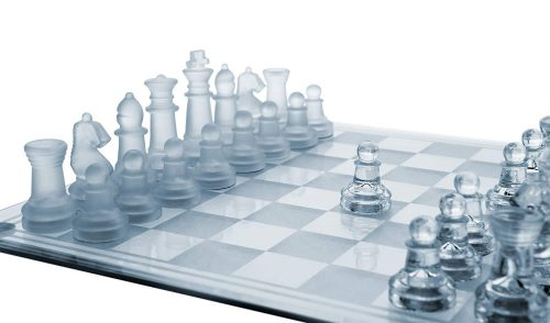 Glass Chess Set, 3 Sizes