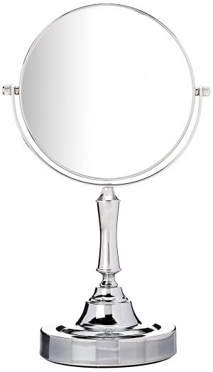 Sagler Vanity Mirror Chrome 6-inch Tabletop Two-Sided Swivel
