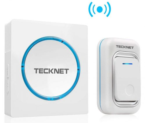Wireless Doorbell, TeckNet Waterproof LED Door Bell Chime Kit