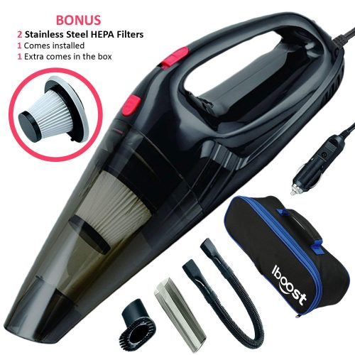 iBoost Handheld Portable Car Vacuum with Accessories
