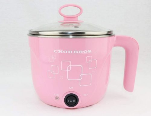 1L CHORBROS Electric Stainless steel pink Hot Pot