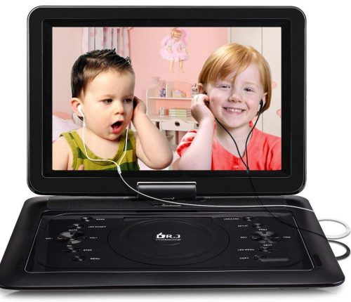 2018 Upgraded DR.J Professional 14.1 inch 7 Hours Portable DVD Player-Portable DVD Players
