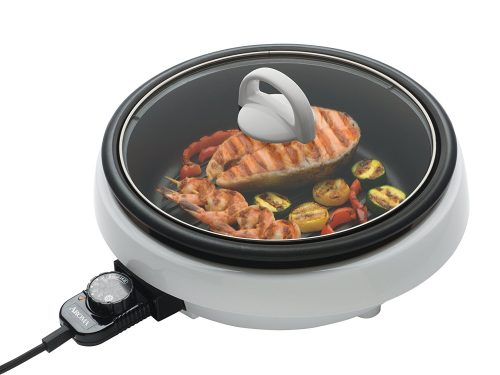 Aroma Housewares ASP-137 3-Quart/10-inch 3-in-1 Super Pot with Grill Plate-Electric Hot Pots