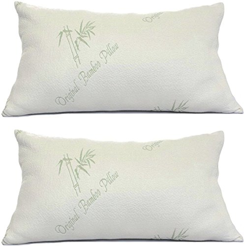 Bamboo Pillows for Sleeping Set of 2
