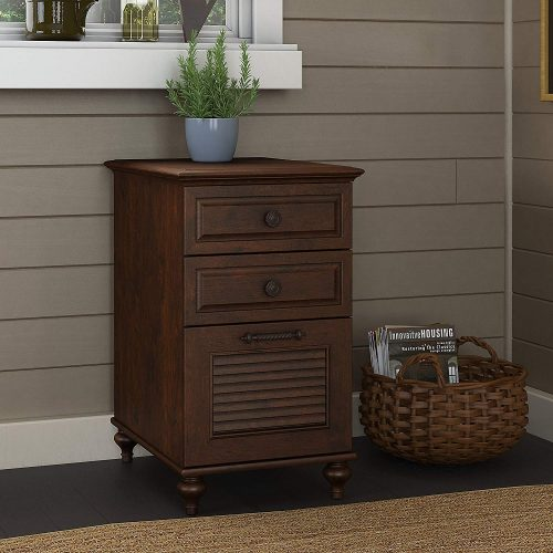 Bush Furniture Volcano Dusk 3 Drawer File Cabinet in Coastal Cherry