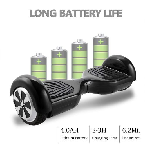 COOCHEER Electric Hoverboard UL2272 Certified Two-wheel Self Balancing Scooter