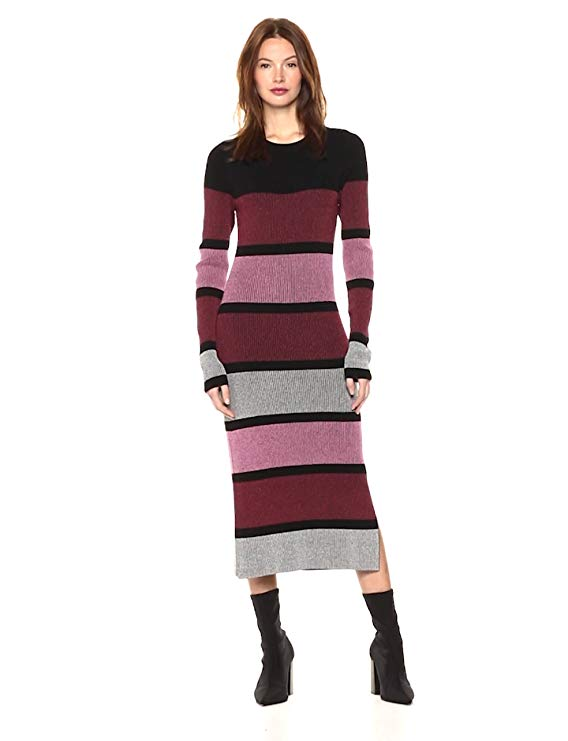 Cable Stitch Women's Stripe Ribbed Dress