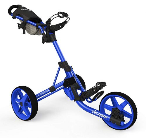 Clicgear 3.5+ Golf Push Cart, Blue-Golf Push Carts