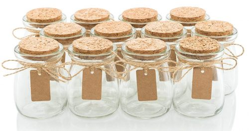 Glass Favor Jars With Cork Lids