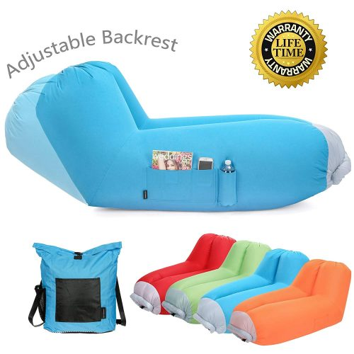 Inflatable air lounger Upgrade Adjustable Backrest Air Bed