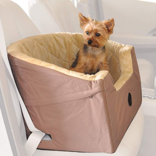 "K&H Pet Products Bucket Booster Pet Seat Small Tan 14.5"" x 20""-Dog Car Seats"
