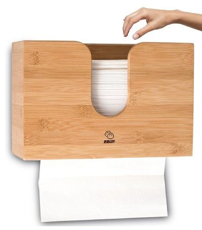 Paper Towel Dispenser Bamboo For Bathroom Decor - Wall Mount