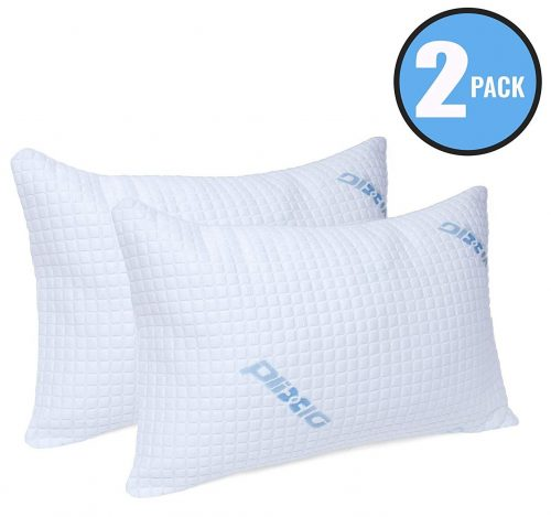 Plixio Deluxe Cooling Shredded Memory Foam Pillow