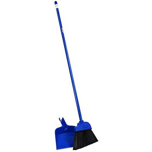 Quickie Angle Cut Broom and Dustpan