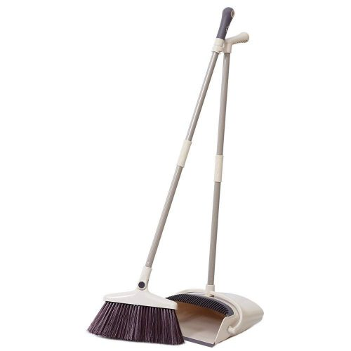 Rotatable Broom and Dustpan Set Standing Upright Grips Sweep Set