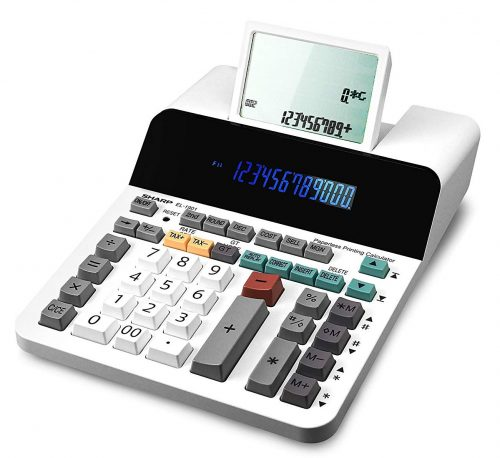 Sharp EL-1901 Paperless Printing Calculator with Check and Correct