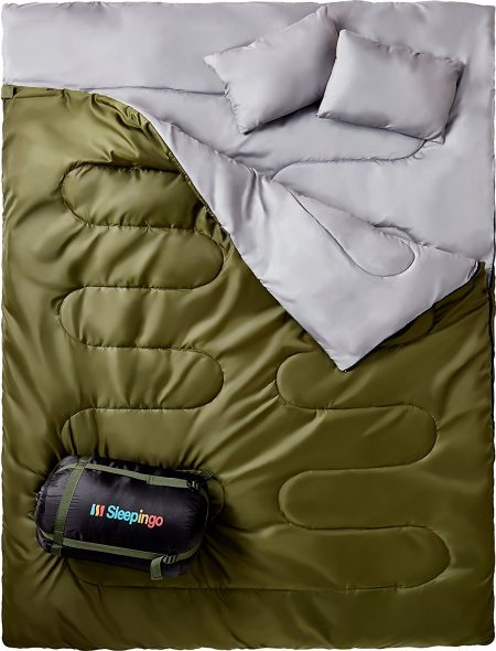 Sleepingo Double Sleeping Bag For Backpacking-Double Sleeping Bags