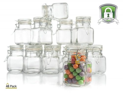 Stock Your Home 3 Oz Airtight Glass Jar