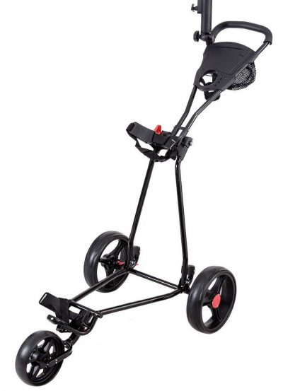 Tangkula Folding Golf Cart 3 Wheels Lightweight Golf Club Push Pull Cart Trolley