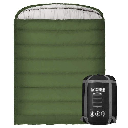 Winner Double Sleeping Bag with Compression Sack