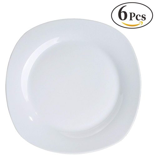 YHY 6 Pcs 10.5-inch Porcelain Dinner Plates