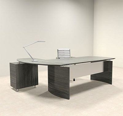 1. 2pc Modern Contemporary L Shape Office Desk: