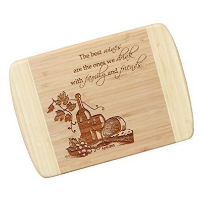 10. Wine Lover's Personalized Cutting Board: