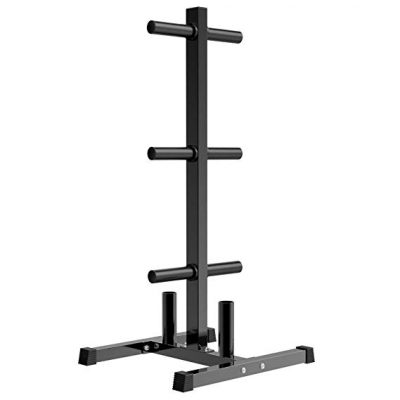 #7. Yaheetech Olympic Weight Tree Plate Tree Rack