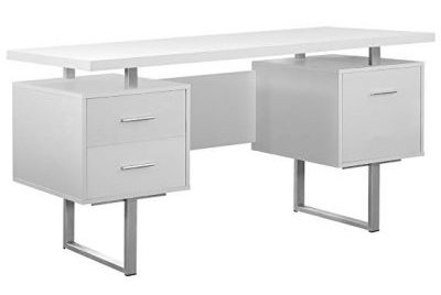 3. Monarch Specialties Metal Office Desk:
