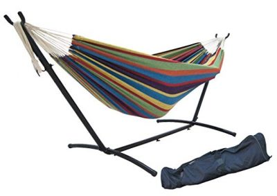 4. SueSport Double Hammock with Steel Stand: