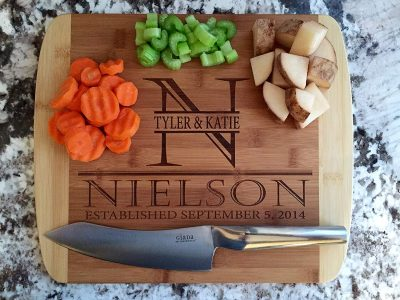 6. Qualtry Personalized Cutting Board: