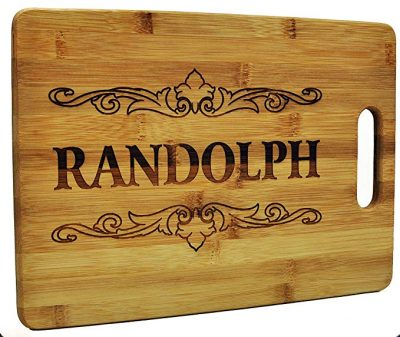 7. Custom Cutting Board – Wood Engraved Board:
