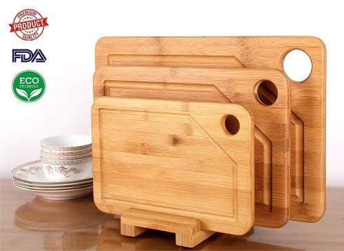 Mohy Bamboo Products Premium Bamboo Cutting Board - 3 Set