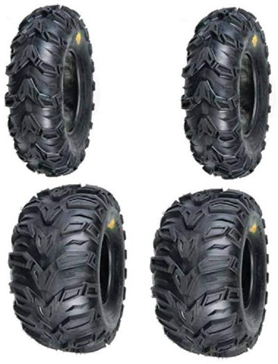 2 FRONT 25-8-12 & 2 REAR 25-10-12 ATV MUD RESISTANT TIRES from Sedona: