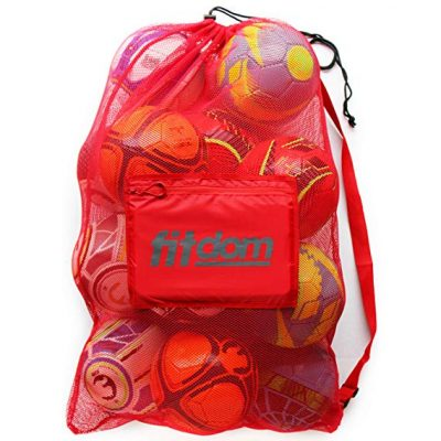 3. Fitdom Extra Large Mesh Bag for Soccer: