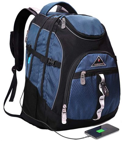 Ramhorn Travel Laptop Backpack,College School Backpack With USB Charging Port: