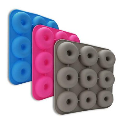 9 Cavity Silicone Donut Baking Pan Non-stick Donut Mold: