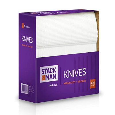 Stack Man Medium Weight Plastic Knives -400 per Case: