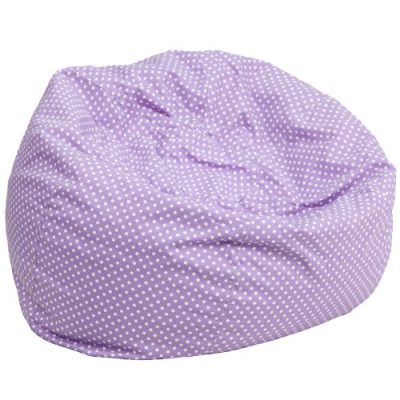Flash Furniture Oversized Lavender Dot Based Bean Bag Chair: