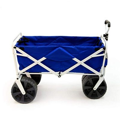 Mac Sports Heavy Duty Collapsible Folding All Terrain Cart Blue/White: